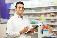Pharmacy chemist woman in drugstore Stock Photos