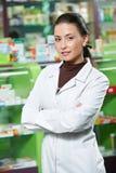 Pharmacy chemist woman in drugstore royalty free stock photos