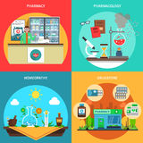 Pharmacy Concept Set Royalty Free Stock Photography