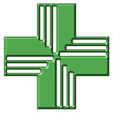 Pharmacy Cross Stock Photography