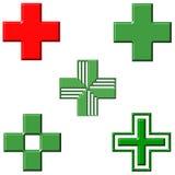 Pharmacy Crosses Stock Photography
