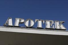 _pharmacy d'Apotek Photos libres de droits