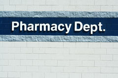 Pharmacy Dept sign Stock Photos