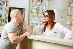 Pharmacy desk flirt Stock Photos