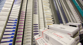 Pharmacy drugs at local distribution warehouse Royalty Free Stock Photography