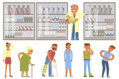 Pharmacy drugstore infographic elements. royalty free illustration