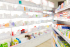 Pharmacy or drugstore room background Stock Image