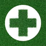 Pharmacy emblem of grass Royalty Free Stock Images