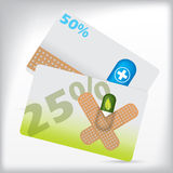 Pharmacy gift card designs Royalty Free Stock Image