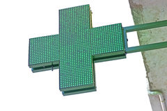 Pharmacy green cross Royalty Free Stock Images
