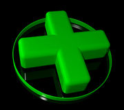 Pharmacy green cross sign Stock Photo