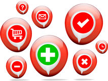 Pharmacy health icons Royalty Free Stock Images