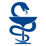 Pharmacy icon with caduceus symbol Royalty Free Stock Photo