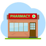 Pharmacy. Icon. Flat design, vector illustration, vector royalty free illustration