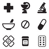 Pharmacy Icons. This image is a vector illustration and can be scaled to any size without loss of resolution Stock Images