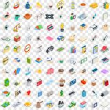 100 pharmacy icons set, isometric 3d style. 100 pharmacy icons set in isometric 3d style for any design vector illustration Royalty Free Stock Photo
