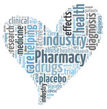 Pharmacy industry word cloud Stock Image