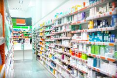 Pharmacy Interior stock images