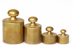 Pharmacy lead weights Stock Photography