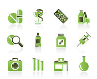 Pharmacy and Medical icons Stock Photos