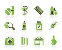 Pharmacy and Medical icons. Icon set Stock Photos