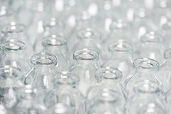 Pharmacy medicine container glassware background Stock Image