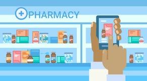 Pharmacy Online Medical Consultation Doctor Health Care Clinics Hospital Service Medicine Network Banner. Flat Vector Illustration Stock Images