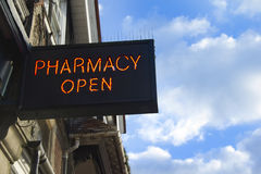 Pharmacy open Stock Photo