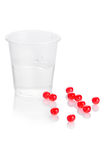 Pharmacy. Red vitamin pills Stock Image