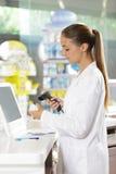 Pharmacy: Scanning a Pill Bottle Stock Photos