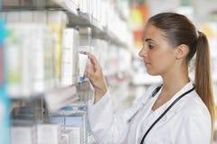Pharmacy: Selecting a Medication Stock Image