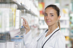 Pharmacy: Selecting a Medication Stock Photo