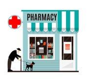 Pharmacy shop icon isolated on white background. Stock Images
