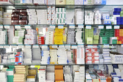 Pharmacy shop interior Royalty Free Stock Images