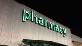 Pharmacy sign on building Stock Images