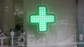 Pharmacy sign stock video