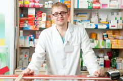 Pharmacy specialist in drugstore Royalty Free Stock Photo