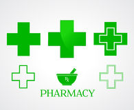 Pharmacy symbols - vector Royalty Free Stock Photos