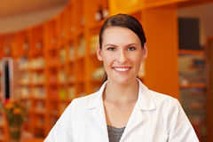 Pharmacy technician in pharmacy Stock Images