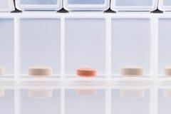 Pharmacy theme,  medicine tablets antibiotic pills. Royalty Free Stock Photography
