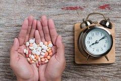 Pharmacy theme,  medicine tablets antibiotic pills. Royalty Free Stock Photo