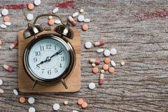 Pharmacy theme,  medicine tablets antibiotic pills. Stock Photos