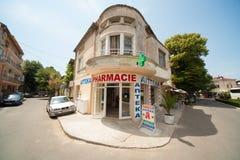 Pharmacy in the town of Pomorie in Bulgaria Stock Image