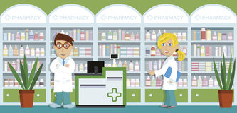 Pharmacy royalty free illustration