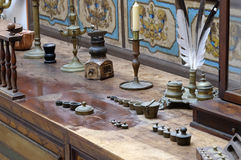 Pharmacy in the world in Franciscan monastery in Dubrovnik. The third oldest pharmacy in the world in Franciscan monastery in Dubrovnik stock photography