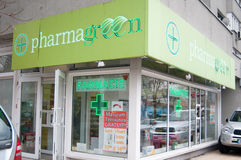 Pharmagreen pharmacy Stock Image