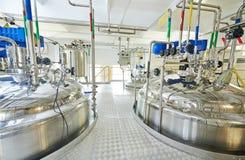 Pharmaindustriearbeitskraft Stockbild