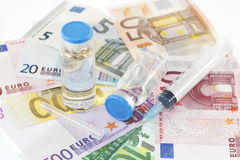 Pharmazeutische Kosten Stockbild