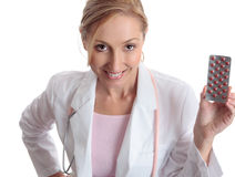 Pharmazeutische Medikation des Doktors Lizenzfreie Stockbilder