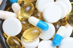 Pharmazeutische Produkte Makro Stockfotos